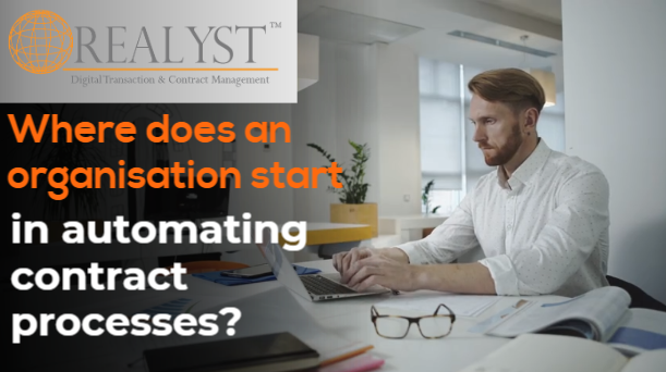 Where does an organisation start in automating contract processes?