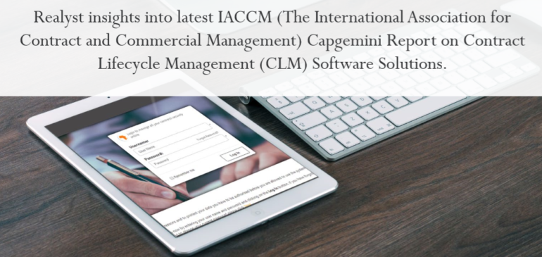 Realyst insights into latest IACCM Capgemini Report